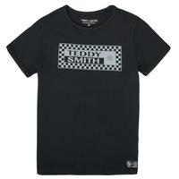 textil Pojkar T-shirts Teddy Smith T-VANY Svart