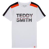textil Pojkar T-shirts Teddy Smith T-MACK Vit
