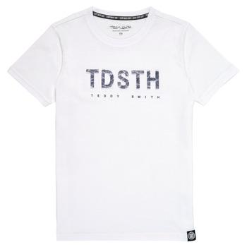 textil Pojkar T-shirts Teddy Smith T-MAX Vit