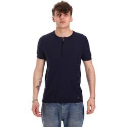 textil Herr T-shirts Gaudi 011BU53007 Blå
