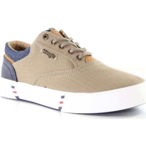 Skor Herr Sneakers Wrangler WM01001A Beige