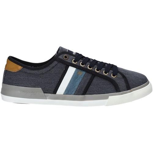 Skor Herr Sneakers Wrangler WM91103A Blå