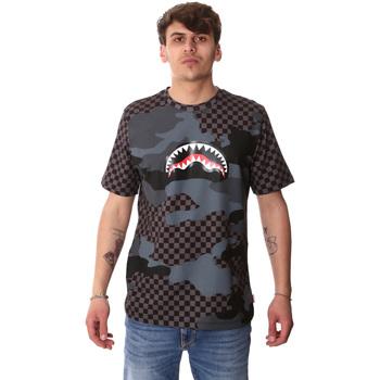 textil Herr T-shirts Sprayground SP01820BLA Svart