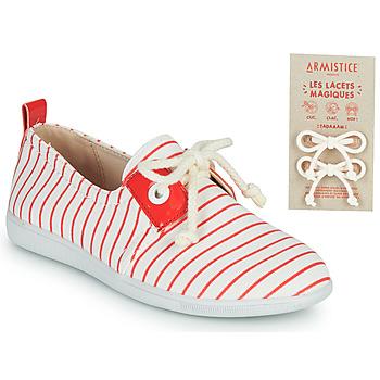 Skor Barn Sneakers Armistice STONE ONE Vit / Röd
