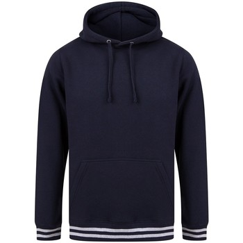 textil Sweatshirts Front Row FR841 Marinblått/lädergrått