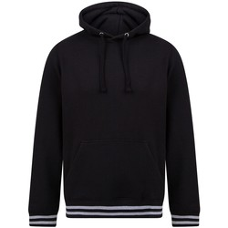 textil Sweatshirts Front Row FR841 Svart/lädergrå