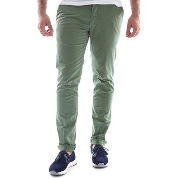 textil Herr Chinos / Carrot jeans Sei3sei 6OYSTER E1648 Grön