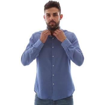 textil Herr Långärmade skjortor Gmf 961414/5 Blå