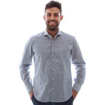 textil Herr Långärmade skjortor Gmf 961231/4 Blå