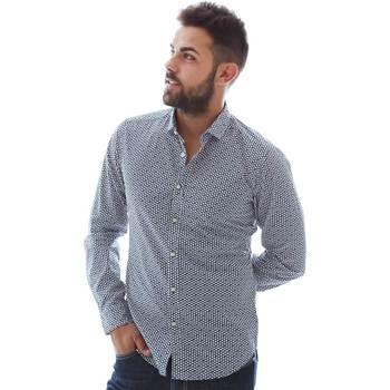 textil Herr Långärmade skjortor Gmf 961151/3 Blå