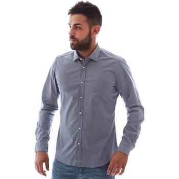 textil Herr Långärmade skjortor Gmf 961146/2 Blå