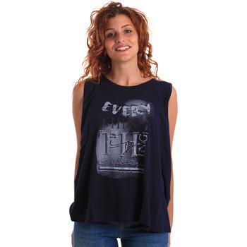 textil Dam Linnen / Ärmlösa T-shirts Key Up 5Z14S 0001 Blå