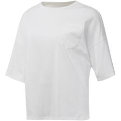 textil Dam T-shirts Reebok Sport DU4048 Vit