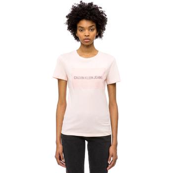 textil Dam T-shirts Calvin Klein Jeans J20J208606 Rosa