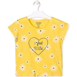 textil Flickor T-shirts Losan 014-1013AL Gul