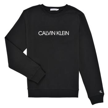 textil Barn Sweatshirts Calvin Klein Jeans INSTITUTIONAL LOGO SWEATSHIRT Svart