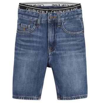 textil Pojkar Shorts / Bermudas Calvin Klein Jeans AUTHENTIC LIGHT WEIGHT Blå