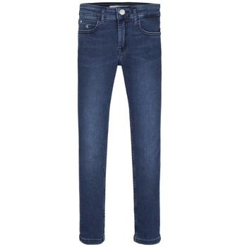 textil Flickor Skinny Jeans Calvin Klein Jeans SKINNY ESS ROYAL BLUE Blå