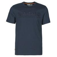 textil Herr T-shirts Timberland SS OUTDOOR HERITAGE LINEAR LOGO TEE REGULAR Marin