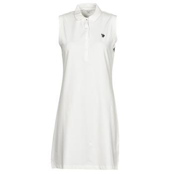 textil Dam Korta klänningar U.S Polo Assn. AMY DRESS POLO SLEEVELESS Vit