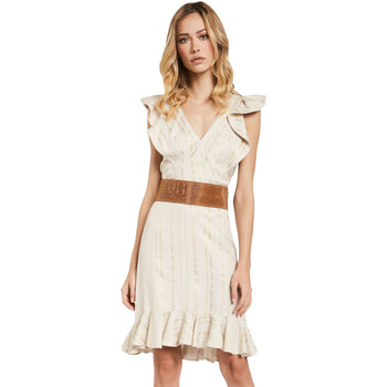 textil Dam Korta klänningar Gaudi 011FD15057 Beige