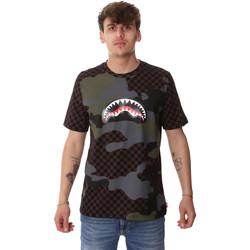 textil Herr T-shirts Sprayground SP01820BRO Brun