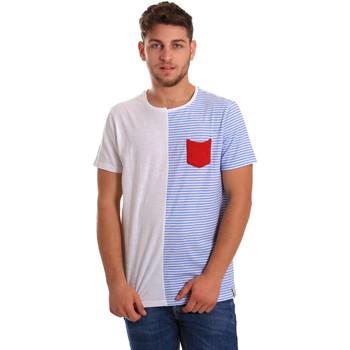 textil Herr T-shirts Gaudi 811FU64046 Vit