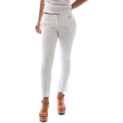 textil Dam Chinos / Carrot jeans Animagemella 16PE003 Vit