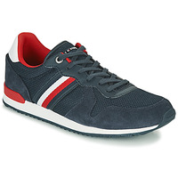 Skor Herr Sneakers Tommy Hilfiger ICONIC MATERIAL MIX RUNNER Marin