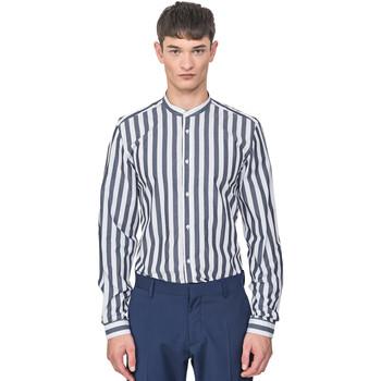textil Herr Långärmade skjortor Antony Morato MMSL00604 FA420096 Blå