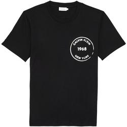textil Herr T-shirts Calvin Klein Jeans K10K104509 Svart