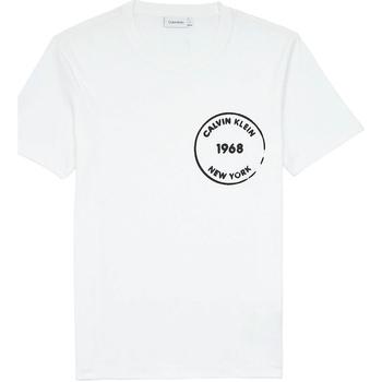 textil Herr T-shirts Calvin Klein Jeans K10K104509 Vit