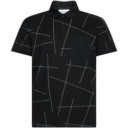textil Herr Kortärmade pikétröjor Calvin Klein Jeans K10K105189 Svart