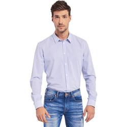 textil Herr Långärmade skjortor Gaudi 011BU45032 Blå