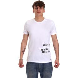 textil Herr T-shirts Gaudi 011BU64071 Vit