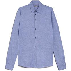 textil Herr Långärmade skjortor Nero Giardini E072300U Blå