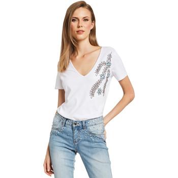 textil Dam T-shirts Gaudi 011BD64017 Vit