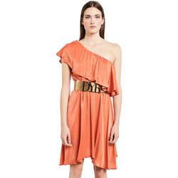 textil Dam Korta klänningar Denny Rose 011ND15020 Orange