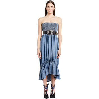 textil Dam Långklänningar Denny Rose 011ND16002 Blå