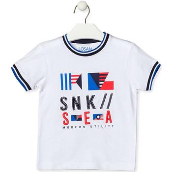 textil Barn T-shirts Losan 015-1000AL Vit