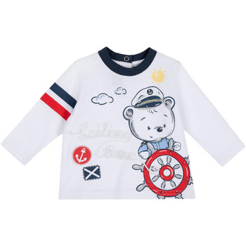 textil Barn Långärmade T-shirts Chicco 09006877000000 Vit