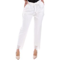 textil Dam Chinos / Carrot jeans Gaudi 011FD25011 Vit