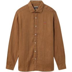 textil Herr Långärmade skjortor Napapijri NP000IL7 Brun