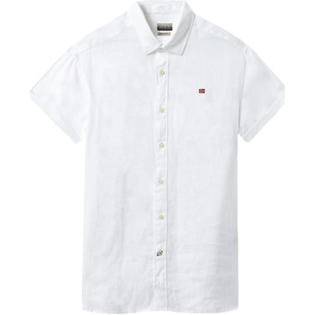 textil Herr Kortärmade skjortor Napapijri NP000IF1 Vit