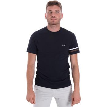 textil Herr T-shirts Les Copains 9U9014 Blå