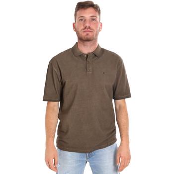 textil Herr Kortärmade pikétröjor Les Copains 9U9016 Brun