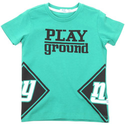textil Barn T-shirts Melby 70E5544 Grön
