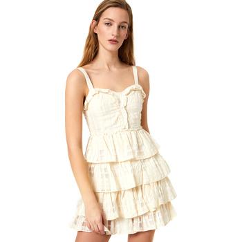 textil Dam Korta klänningar Liu Jo FA0312 T4190 Vit