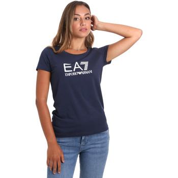textil Dam T-shirts Ea7 Emporio Armani 8NTT63 TJ12Z Blå