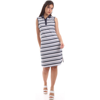 textil Dam Korta klänningar Ea7 Emporio Armani 3HTA58 TJI3Z Blå